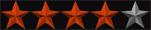 4 stjerner rød